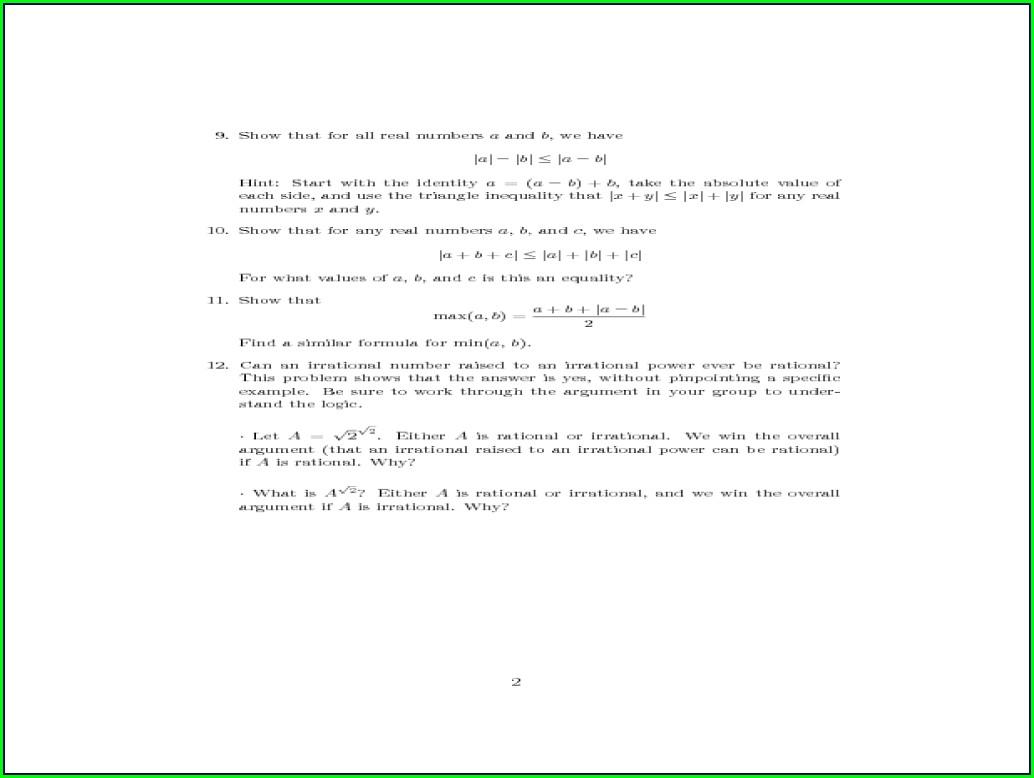 Math Worksheet Quadratic Equations