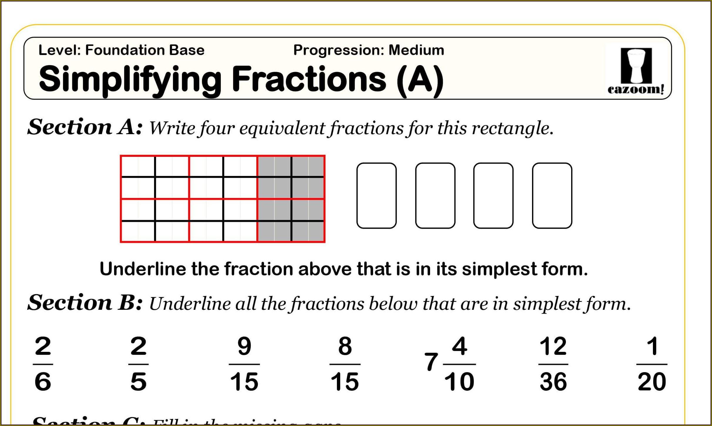Math Worksheet Year 3