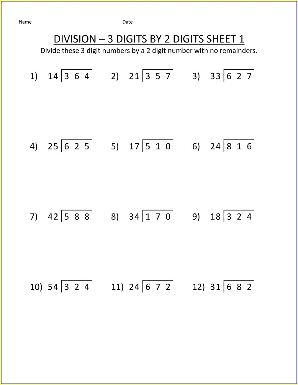 Math Worksheets For Grade 5
