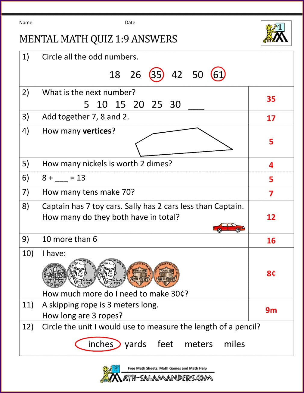 Math Worksheets For Grade 8 With Answers Cbse