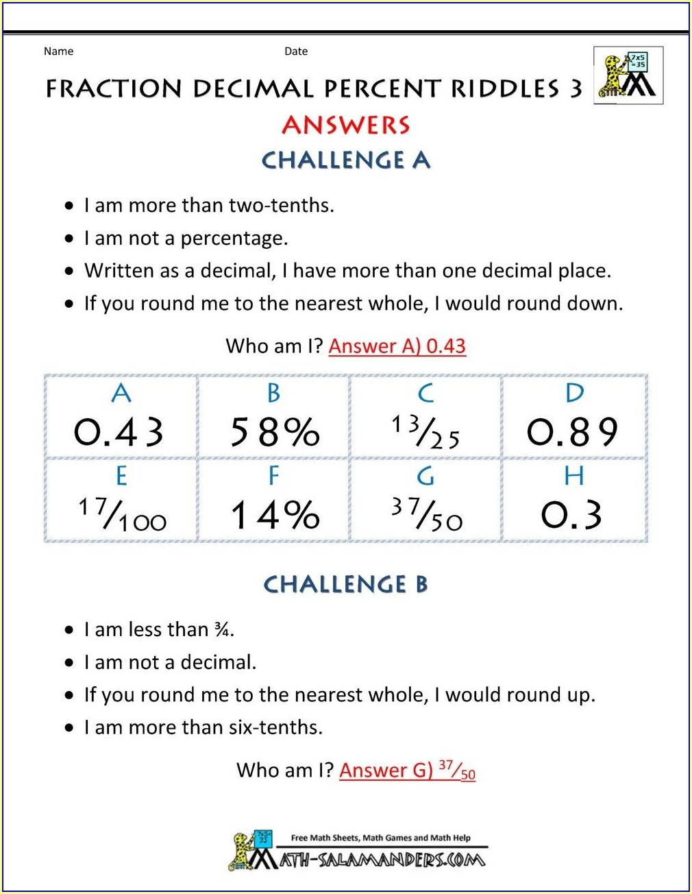 Math Worksheets Of Grade 3