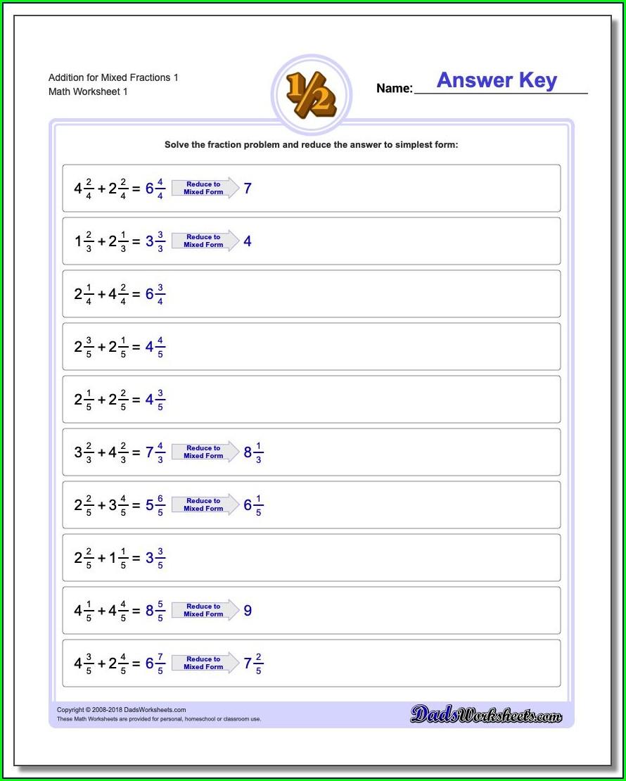 Maths Worksheet For Grade 6 Fractions