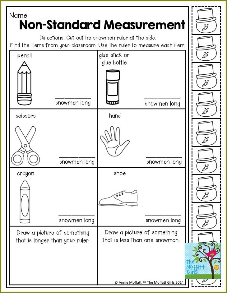 Measuring Items In The Classroom Worksheet