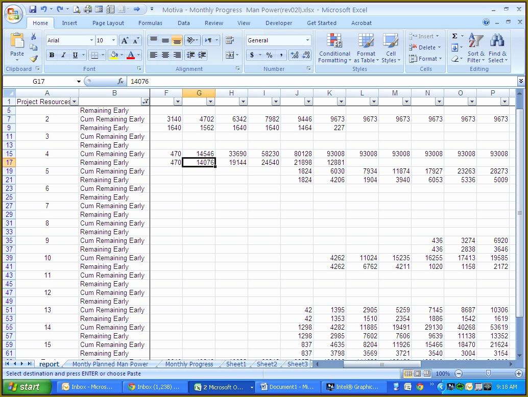 Microsoft Excel Spreadsheet Formulas List