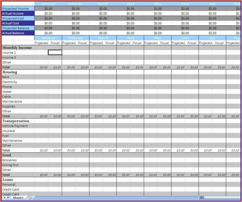 Microsoft Home Budget Templates For Excel