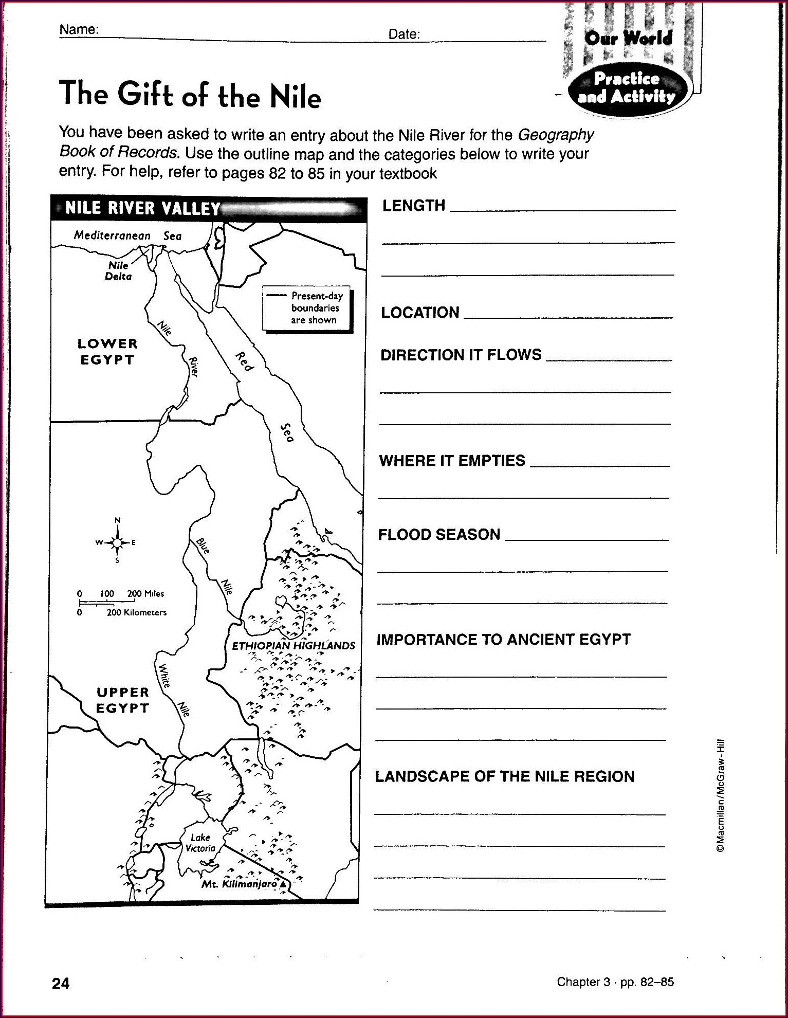 Middle School 6th Grade History Worksheets