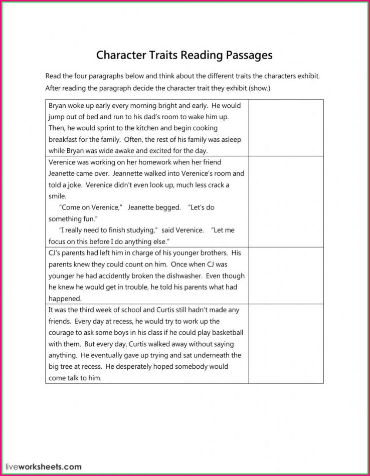 Middle School 6th Grade Science Worksheet