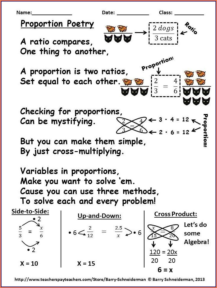 Middle School Math Ratio Worksheet
