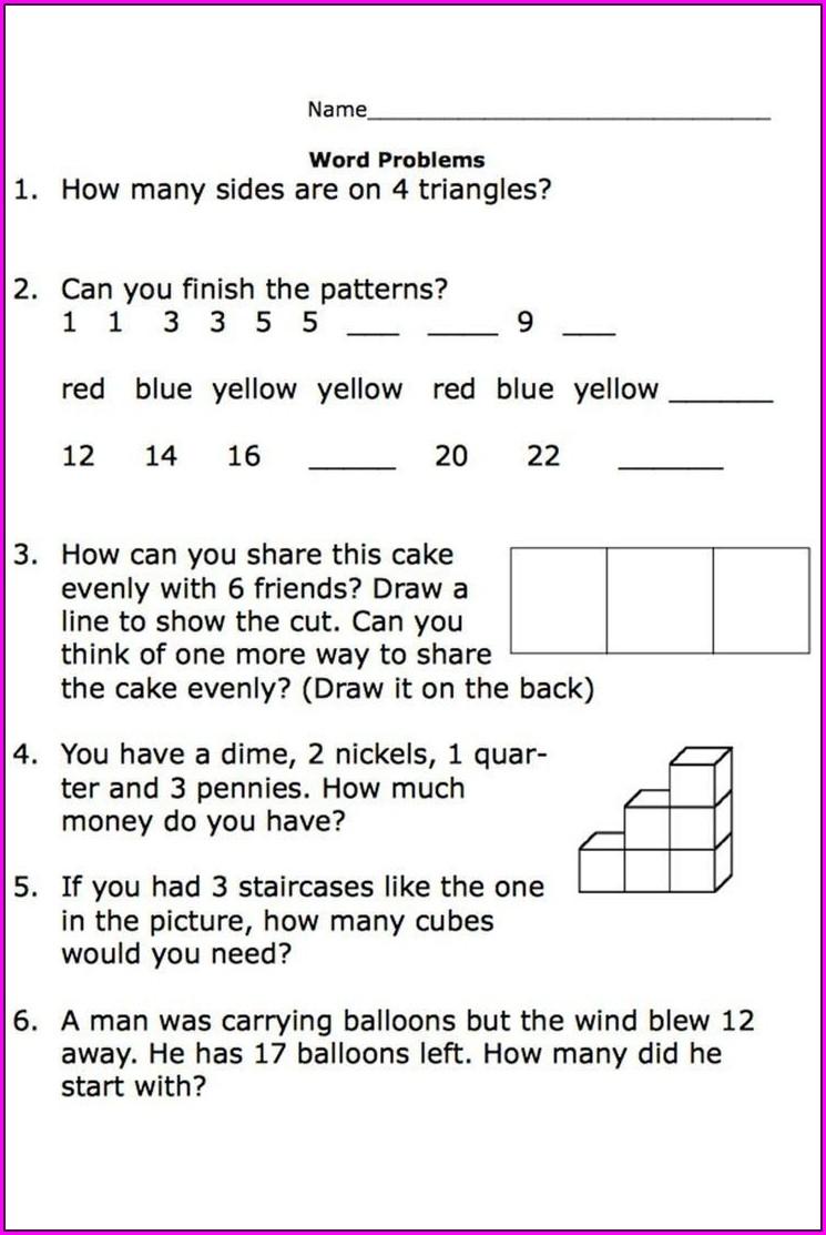 Mixed Math Worksheet Grade 2