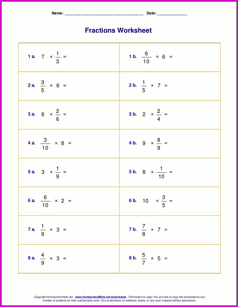 Mixed Math Worksheet Grade 6