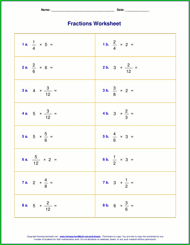 Mixed Number Operations Worksheet Ks2
