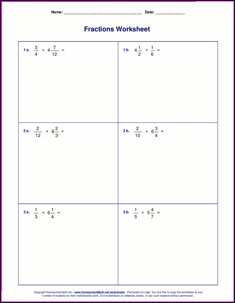 Mixed Operations With Fractions Worksheet Pdf