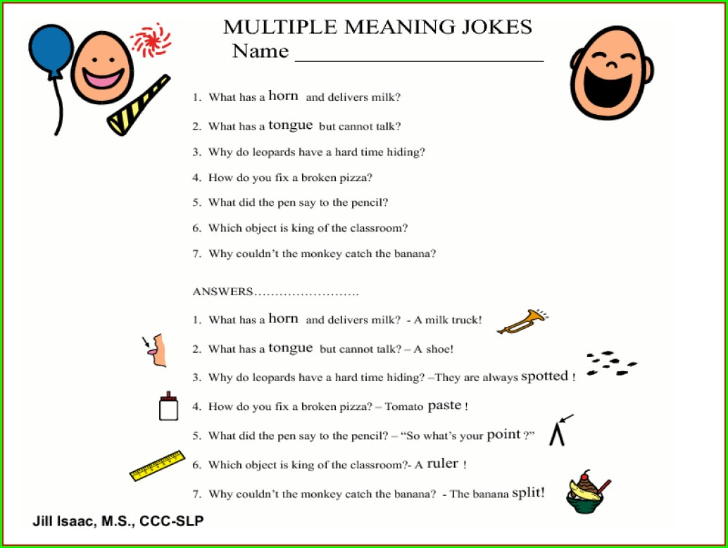 Multiple Meaning Words Common Core Worksheets