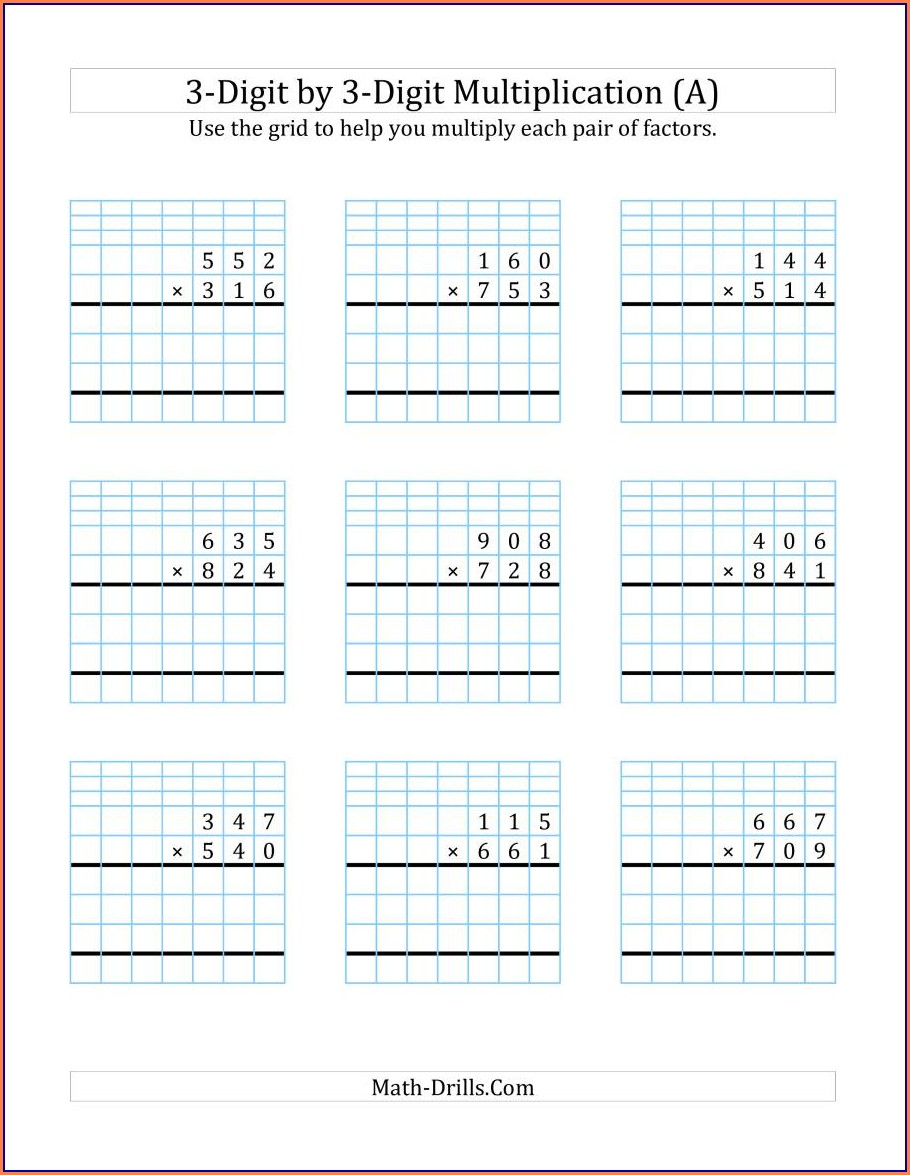 Multiplication On A Number Line Worksheets Pdf