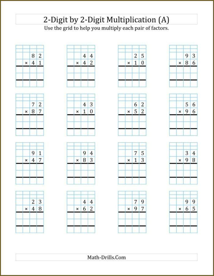 Multiplication Worksheet For Class 2