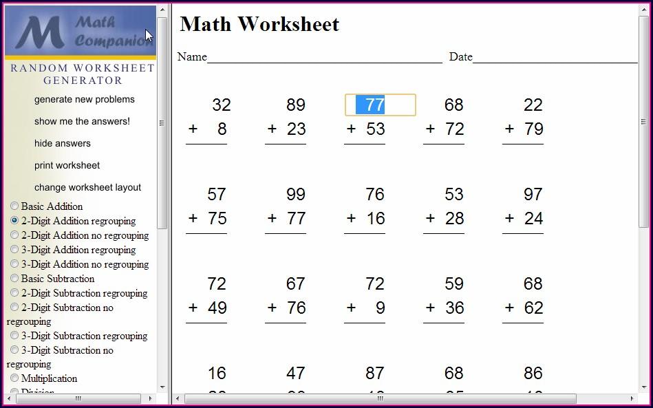 Multiplication Worksheet Generator Online