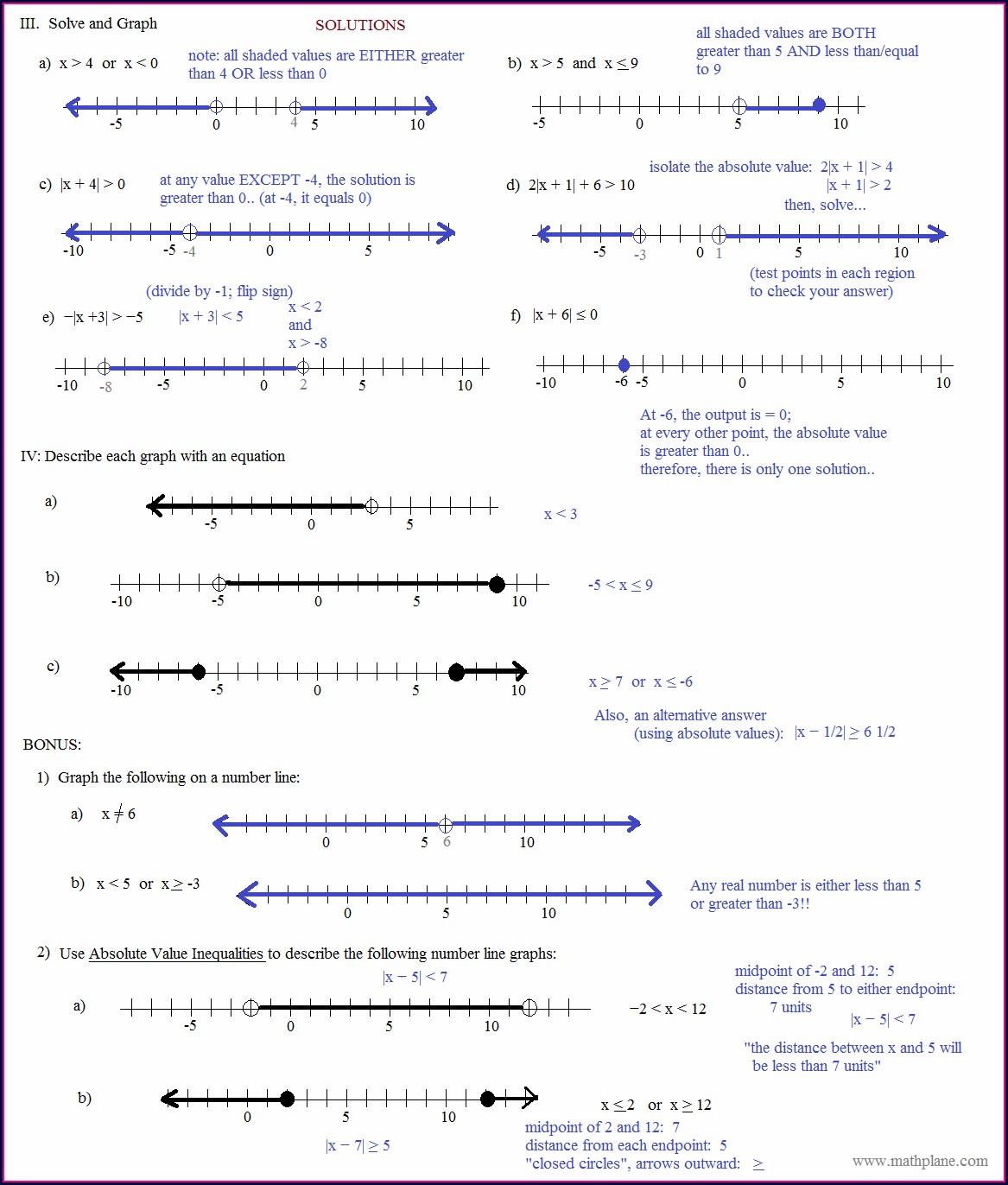 Negative Number Line Printable