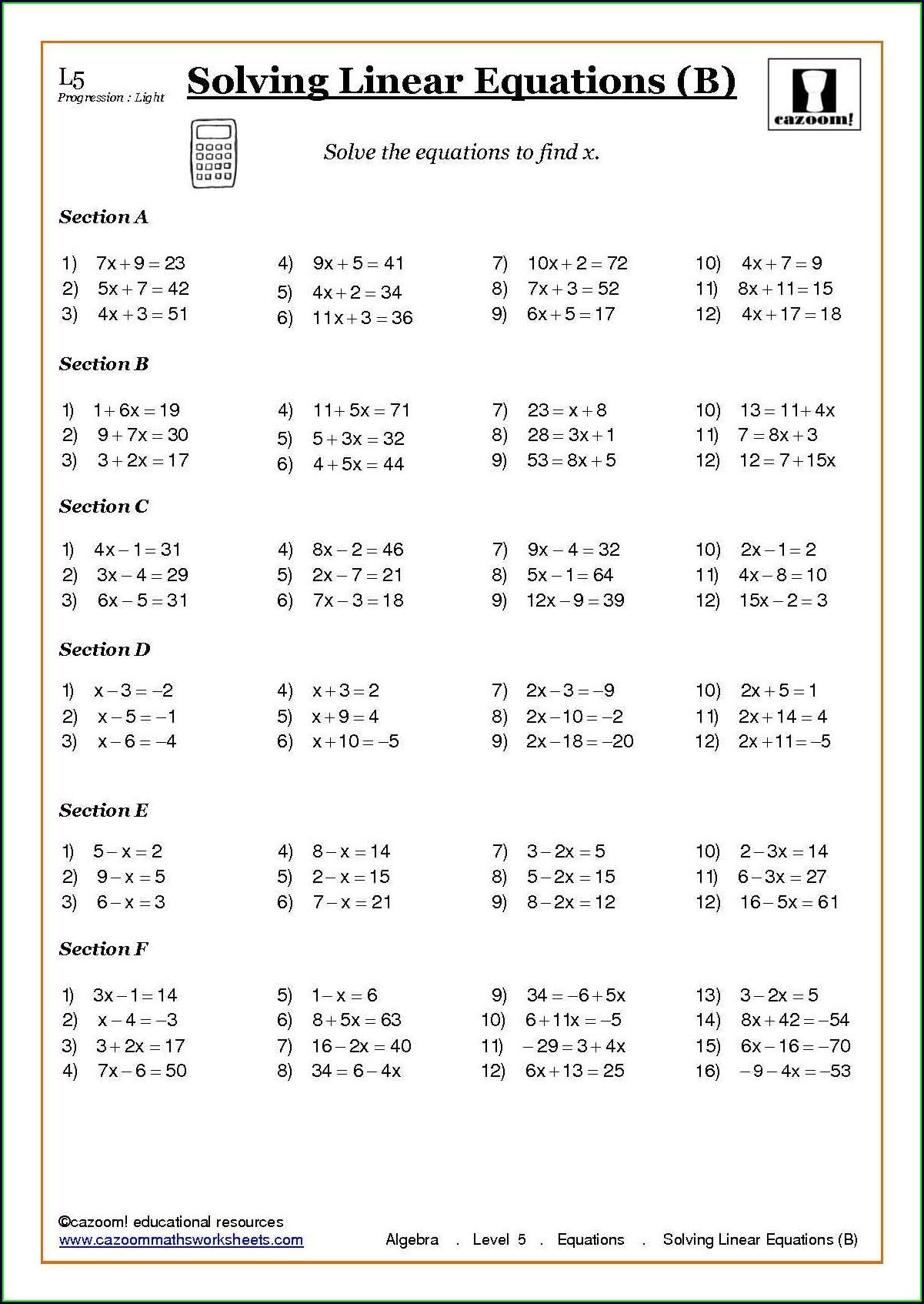 Negative Number Worksheets Ks4