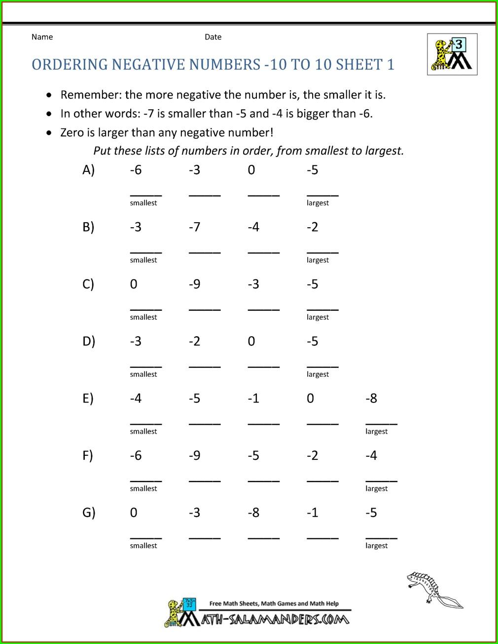 Negative Numbers Temperature Worksheet Ks2
