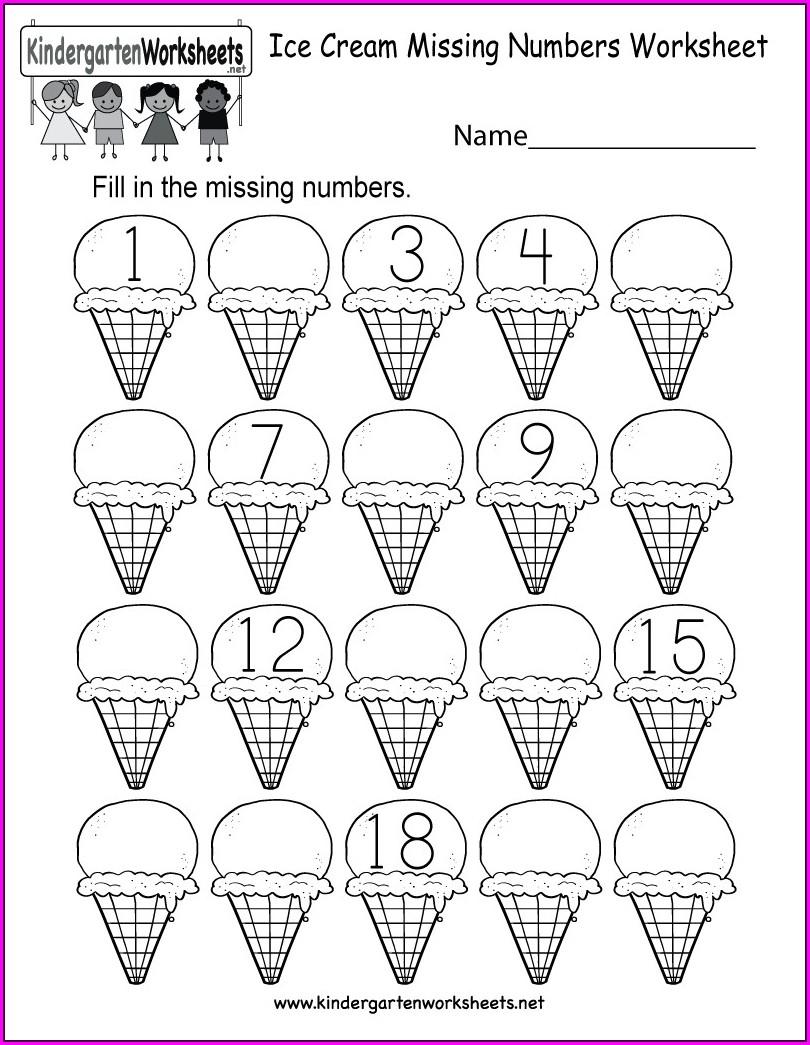 Number One Tracing Worksheet For Preschoolers