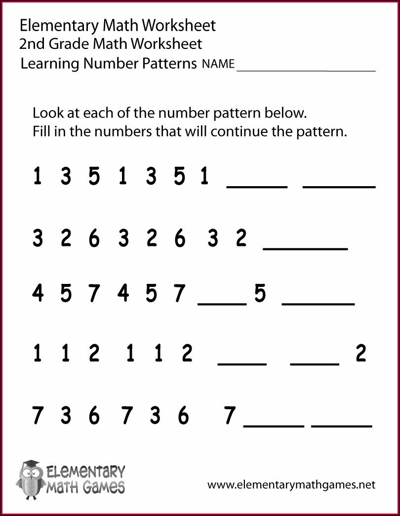 Number Patterns Worksheets Year 7