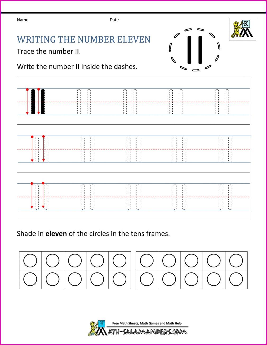 Number Writing Worksheet Maker