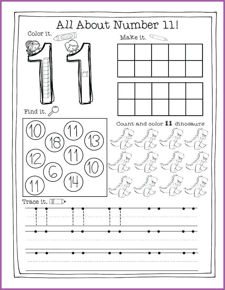 Numbers Worksheets For Kindergarten Pdf