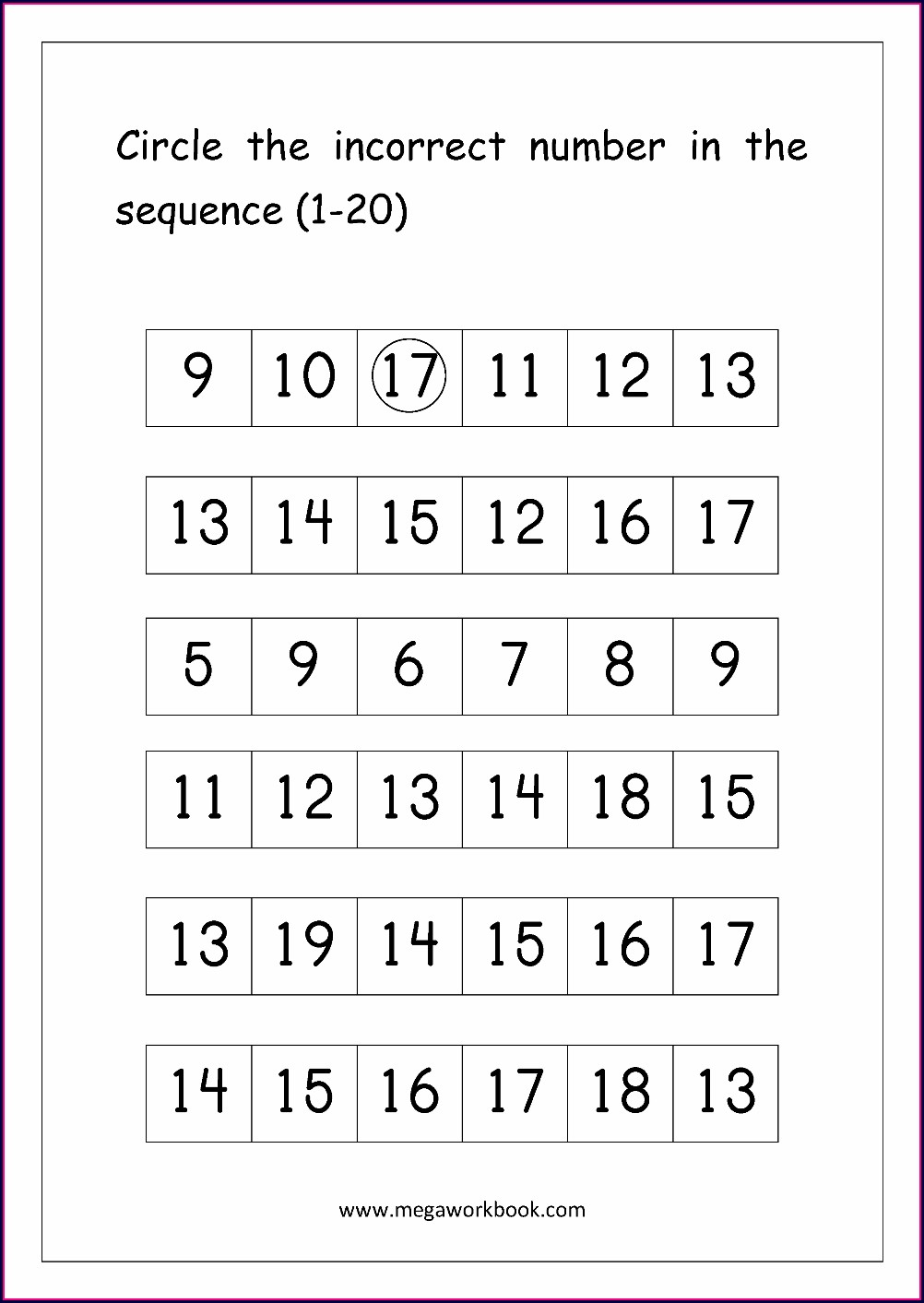 Ordering Numbers Up To 100 Worksheet