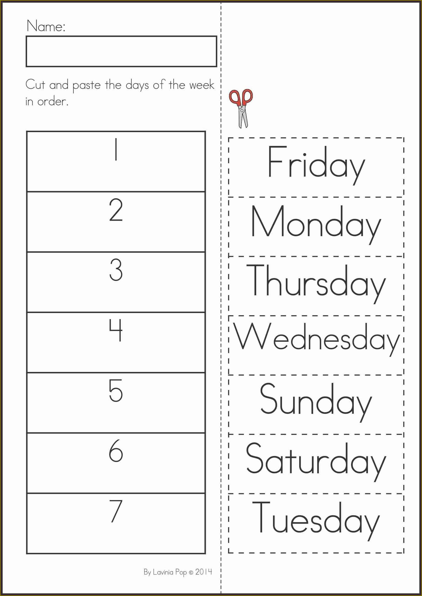 Ordering Numbers Worksheet Kindergarten