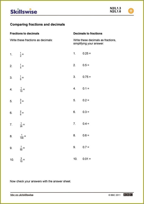 Ordering Numbers Worksheets Gcse