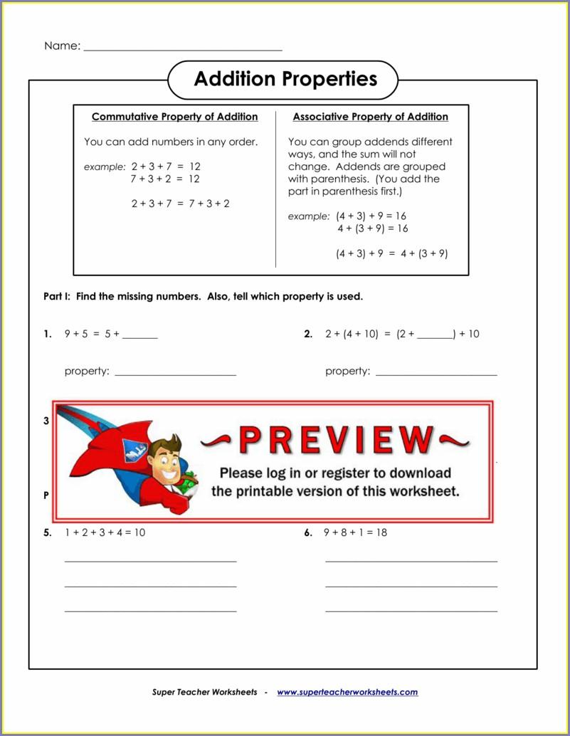 Ordering Numbers Worksheets Super Teacher