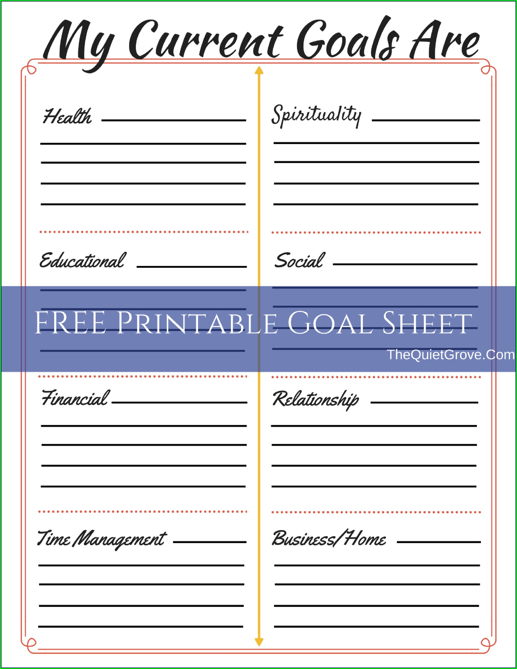 Organizational Goal Setting Worksheet