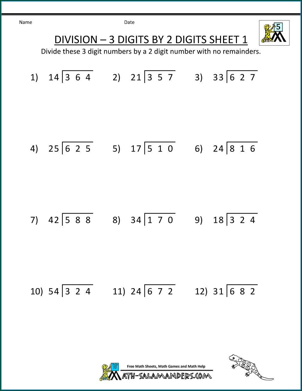 Partial Products Multiplication Worksheet