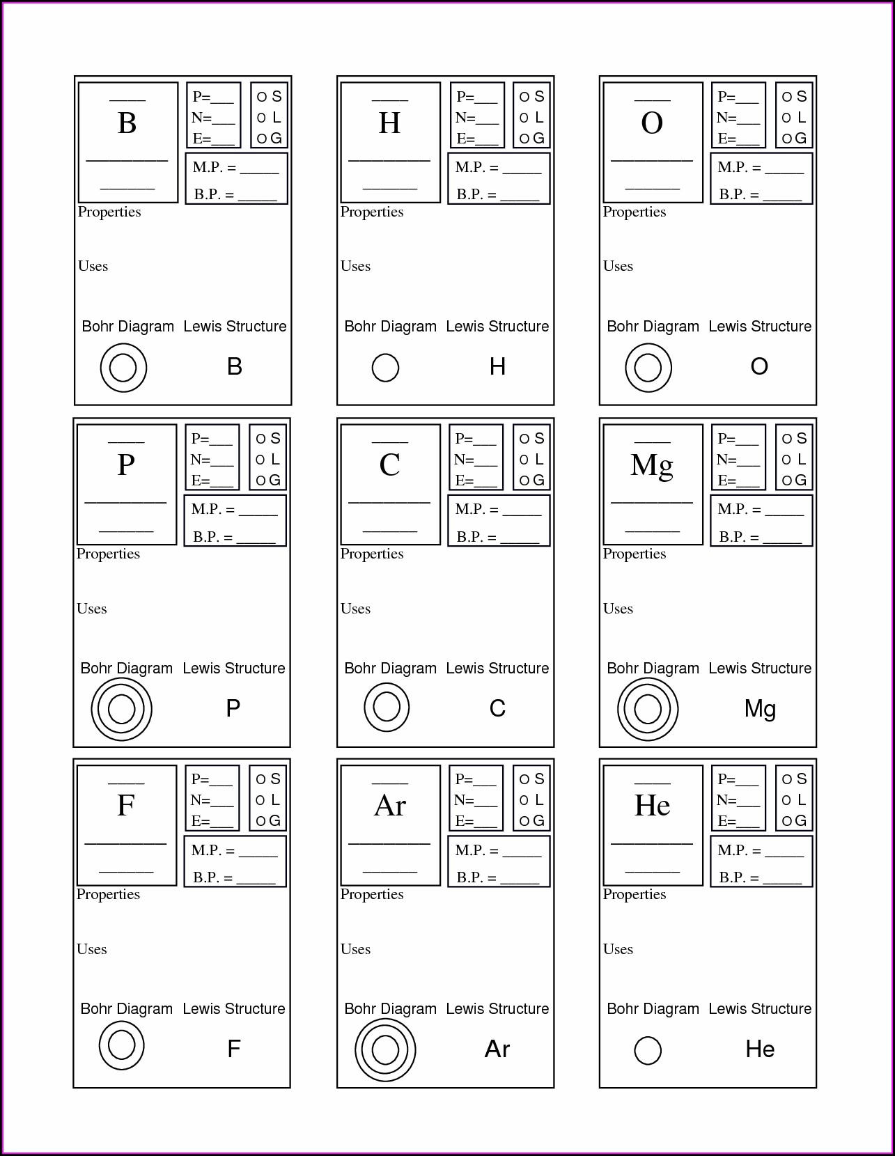 Periodic Table Physical Science Element Worksheet Answer Key