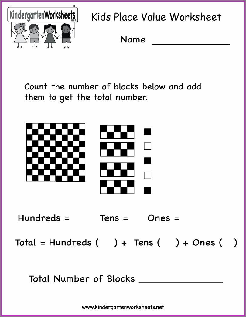 Place Value Worksheets Kindergarten Free