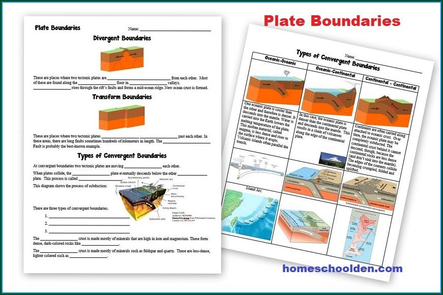 Plate Tectonics Worksheets Elementary