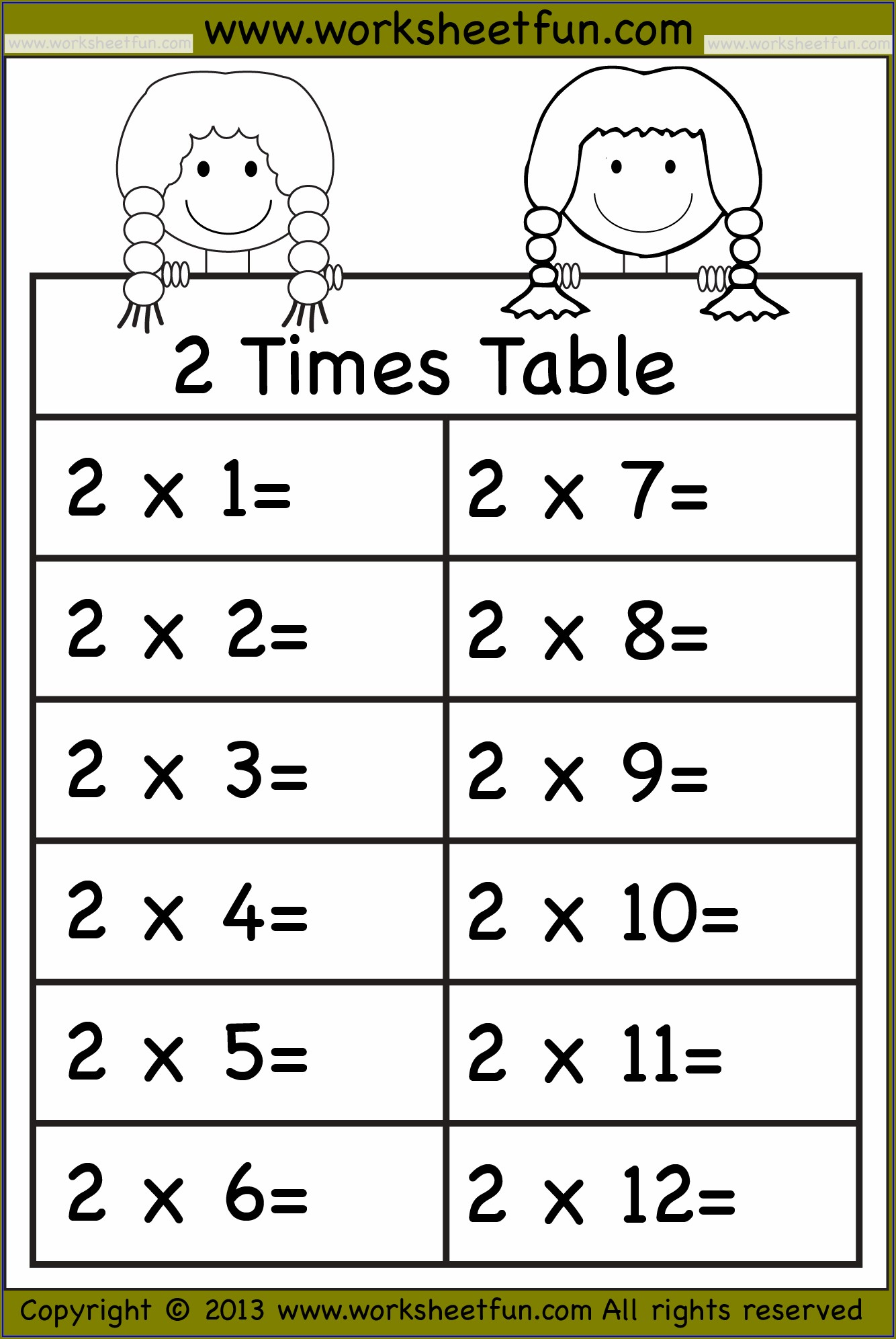 Practice Times Tables Worksheets Year 6