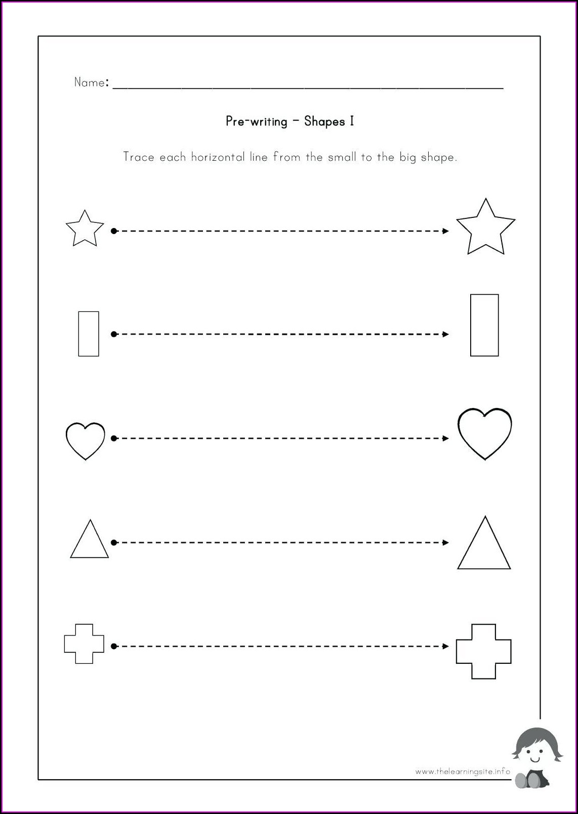 Pre Writing Skills Worksheet Pdf