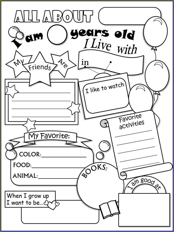 Preschool My School Worksheets For Kindergarten