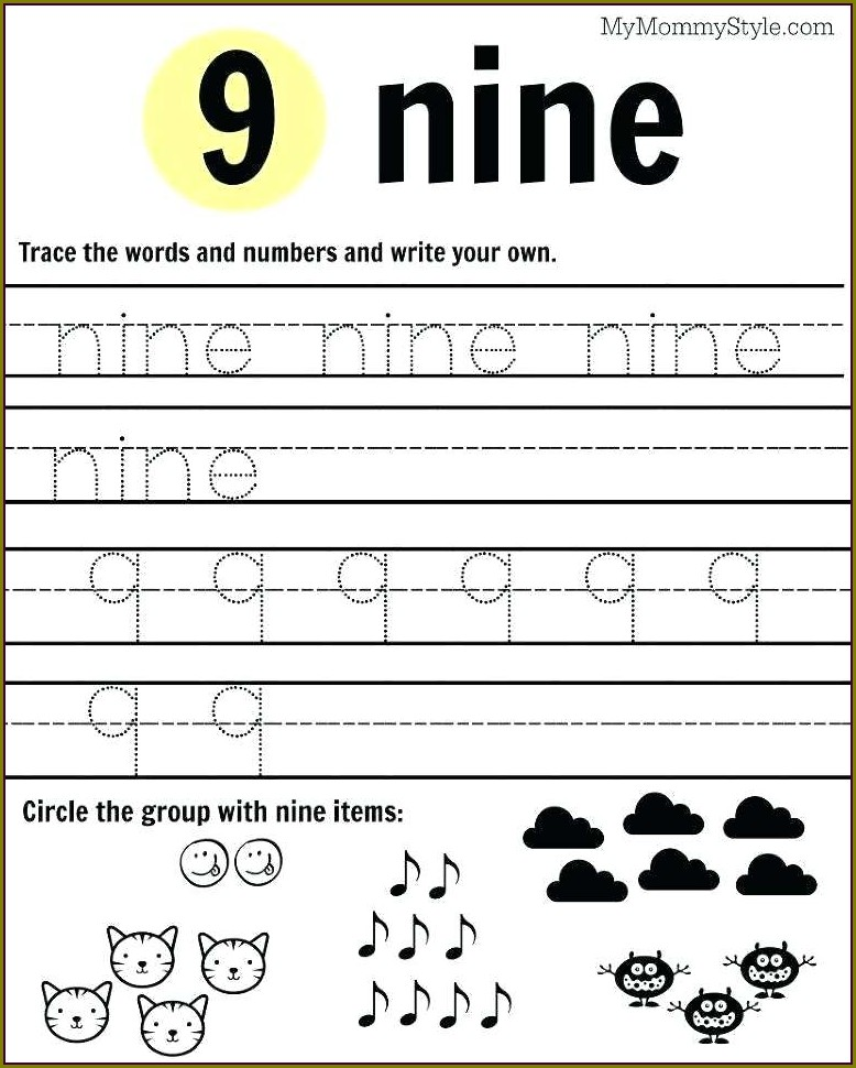 Preschool Number 2 Tracing Worksheet