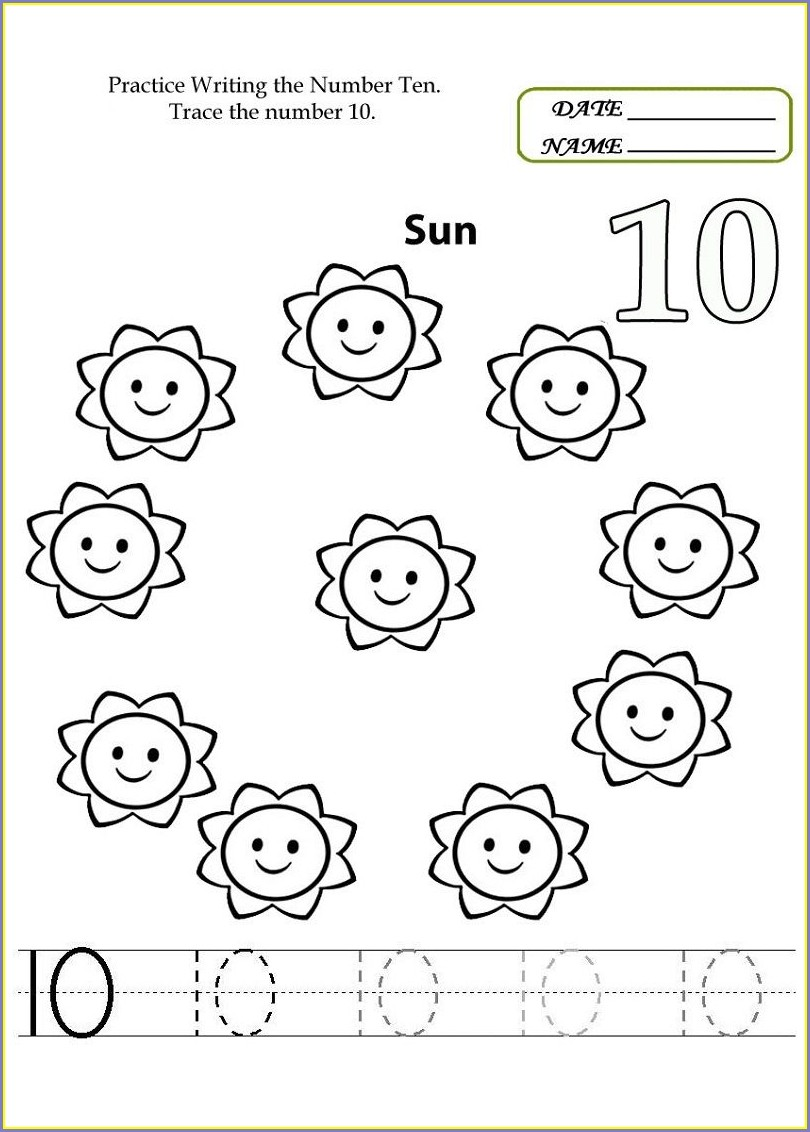Preschool Number Tracing Worksheets Free