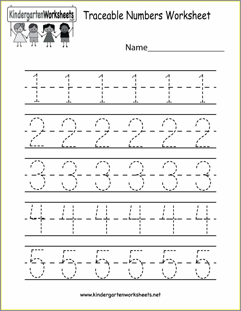 Preschool Number Worksheets Printable