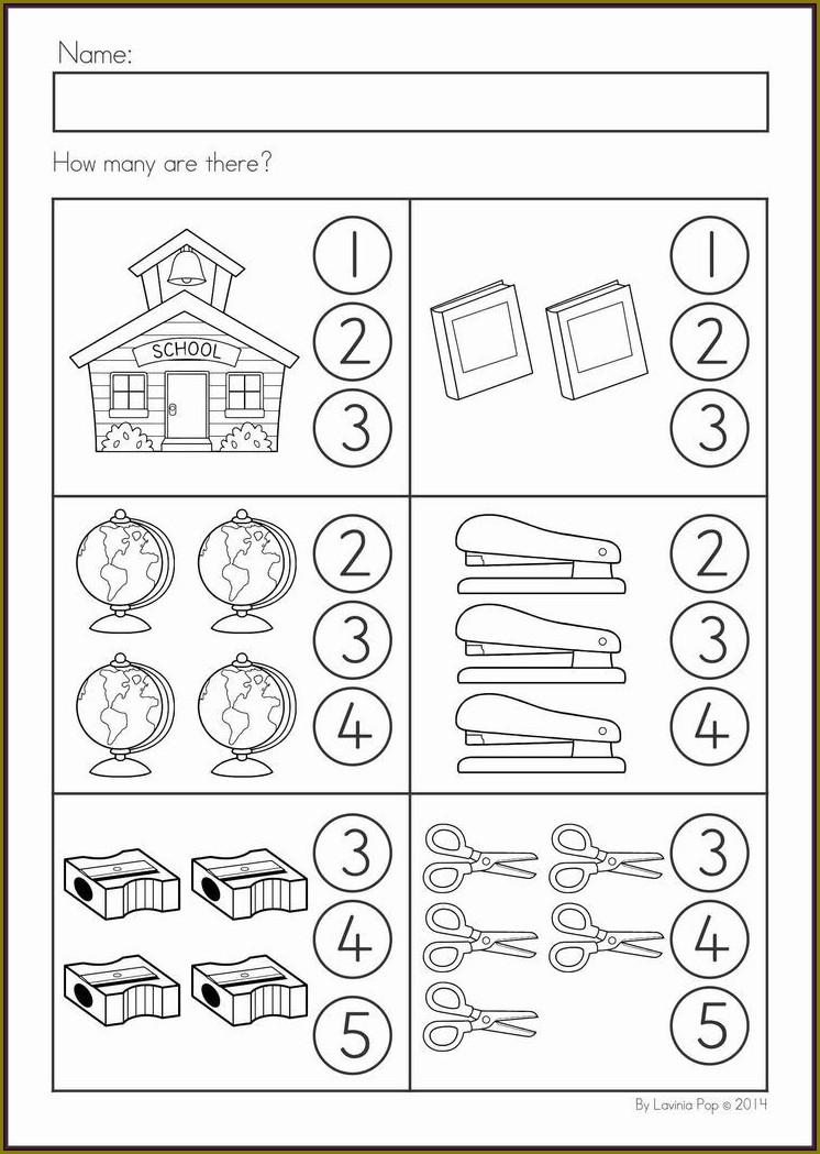 Preschool Worksheet Number 3