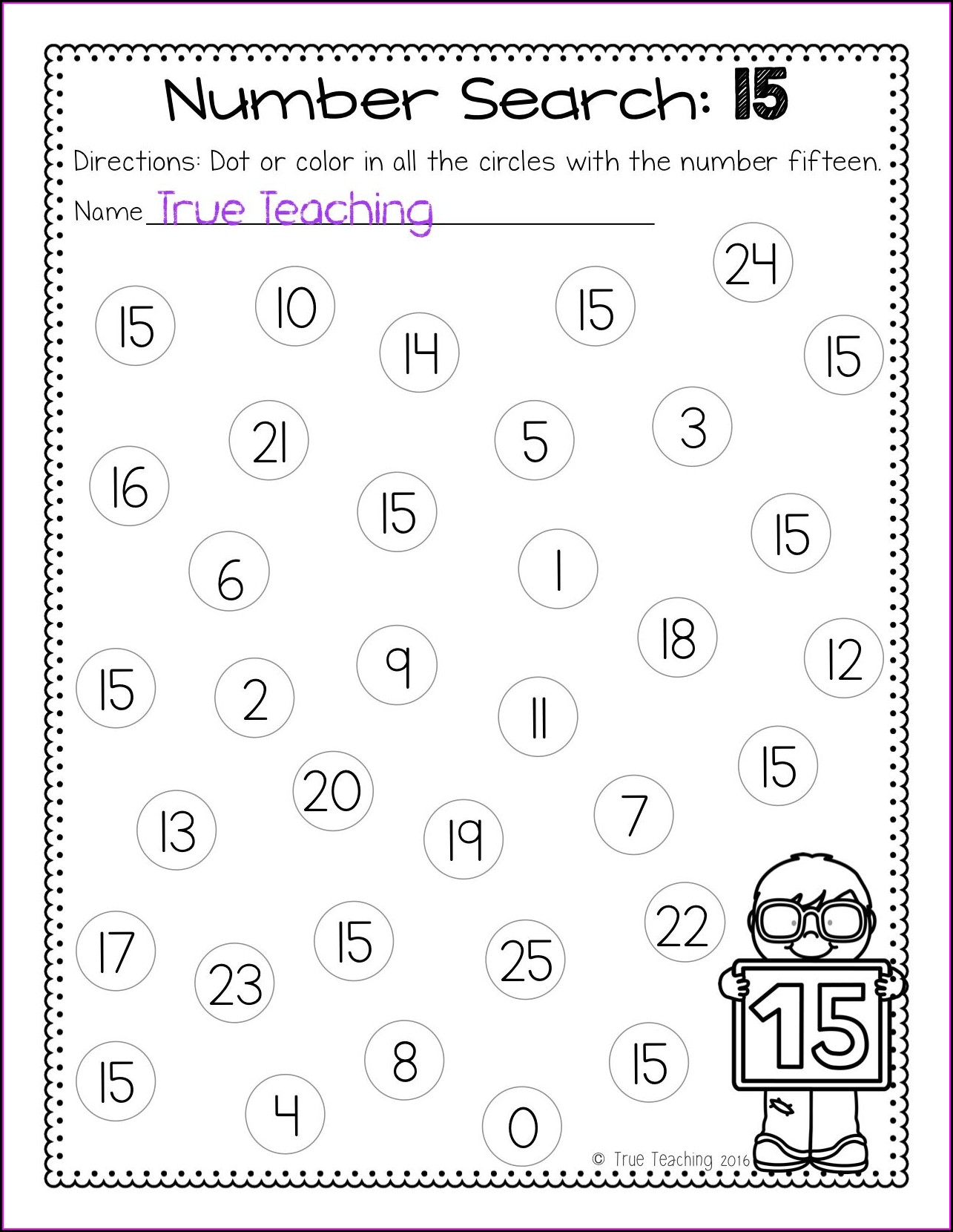 Preschool Worksheet Numbers 11 20