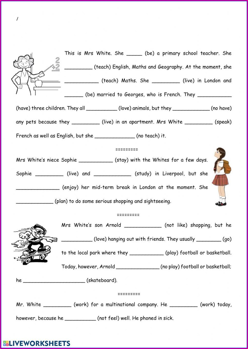 Present Simple Vs Past Simple Worksheet Pdf