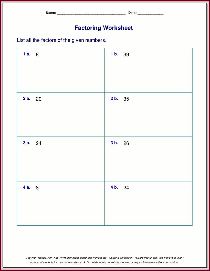 Prime Number Worksheets For 5th Grade