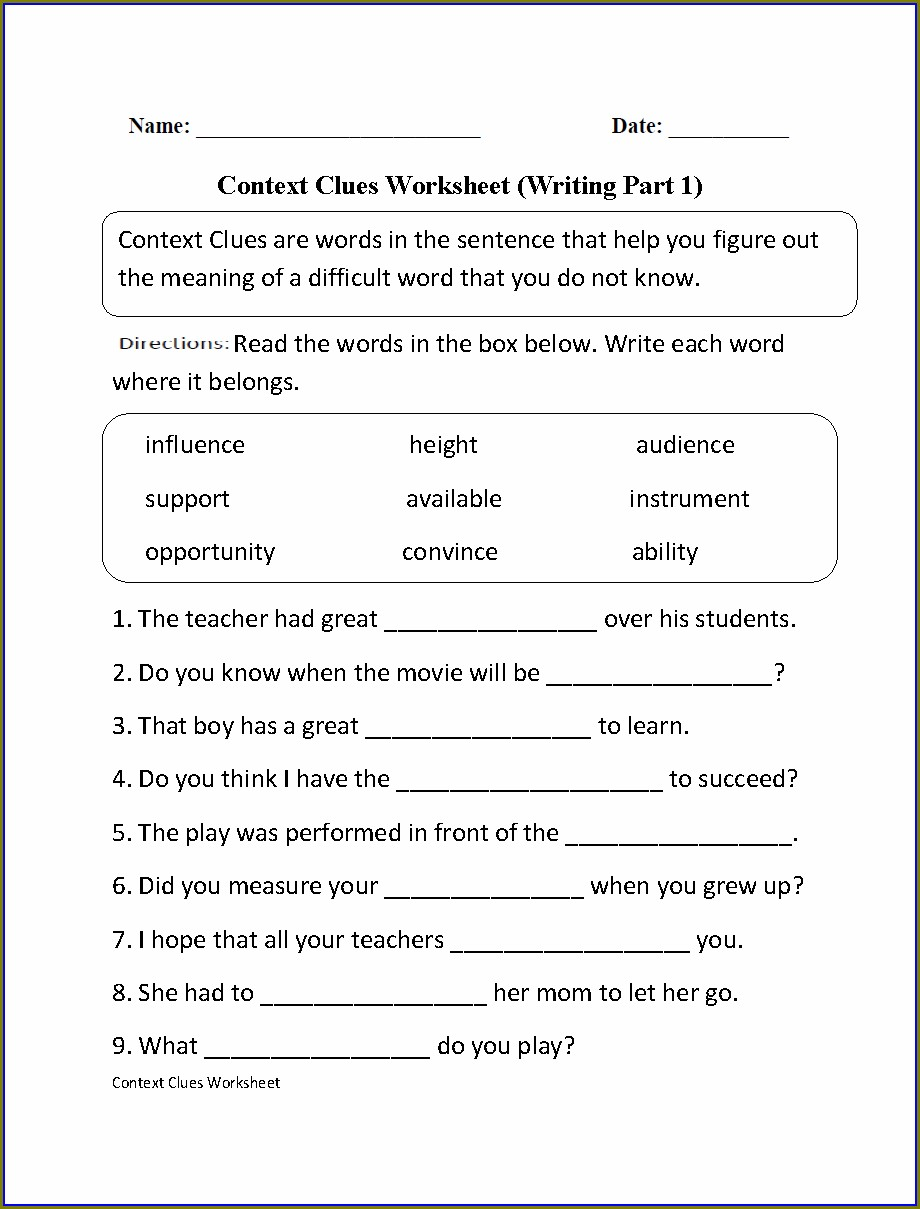 Printable 1st Grade Language Arts Worksheets Pdf