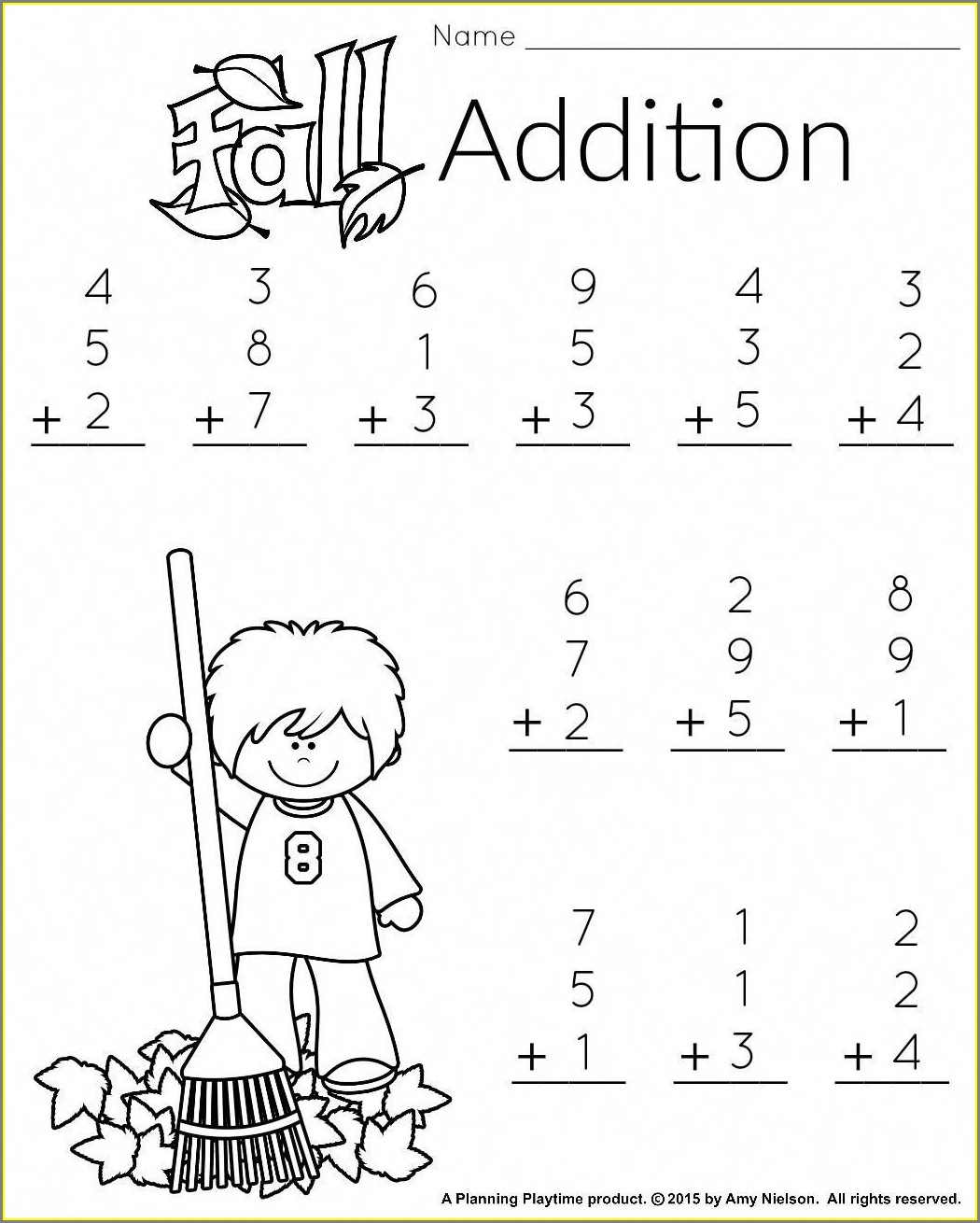Printable 1st Grade Math Worksheet