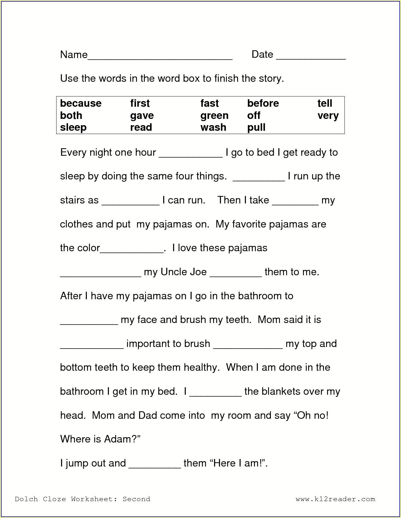 Printable 3rd Grade Ela Worksheets