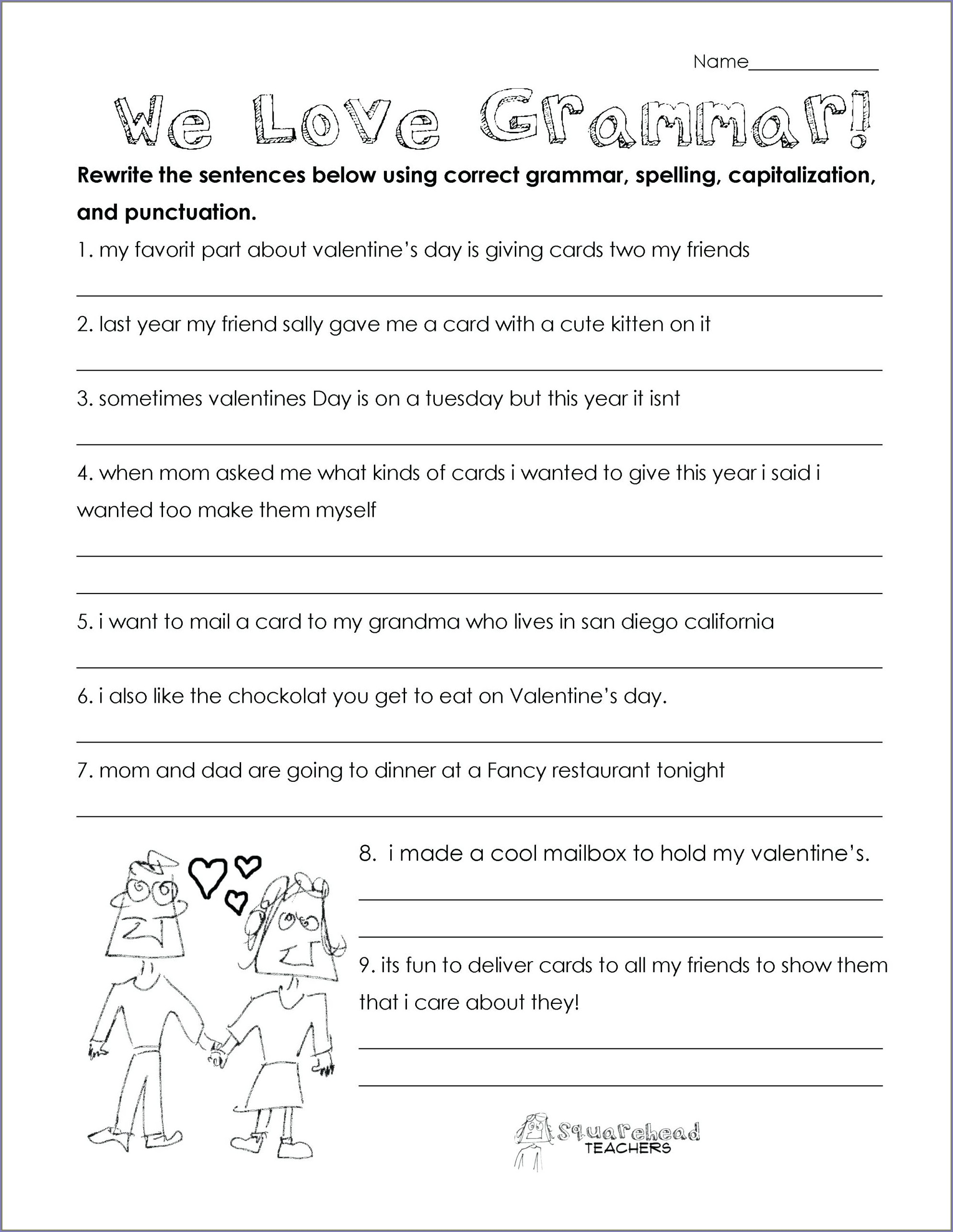 Printable 3rd Grade English Worksheets Pdf
